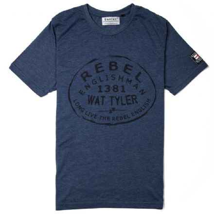 "Senlak ""Tyler"" T-Shirt - Heather Navy"